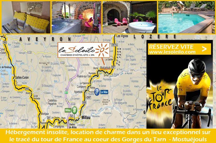 Chambre d'hôte Aveyron sur le tracé du Tour de France 2015 : une étape incontournable !