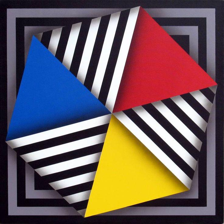 Pintura del maestro colombiano Omar Rayo, obra que permite en el área de Artística ademas de conocer la gran obra del artista, desarrollar temáticas como: el color, claro -oscuro, colores neutros, luz y sombra, el plano, profundidad, formas geométricas, la linea, la imagen, el punto, la imagen, el movimiento, plegados, entre otras.