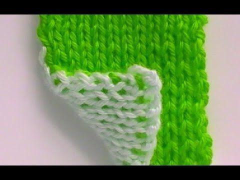 ▶ Como Tejer Punto Fantasía Bordado 2 Agujas (66) - YouTube
