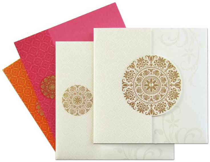 www.regalcards.com for this amazing and elegant invitation card that spreads most vibrant and traditional colors when opened. An elegant invite with attractive colorful inserts.