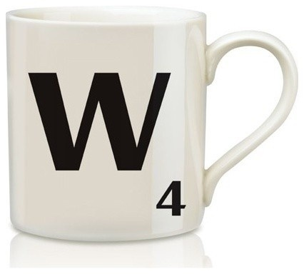 by Graham and Green  Letter mugs with the Scrabble lover's initial on it make a great gift for one who loves the game.