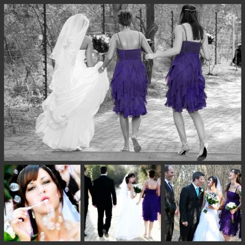 I was very impressed with the joyful colors of Donne's wedding. The purple was a deep and rich purple. Awesome