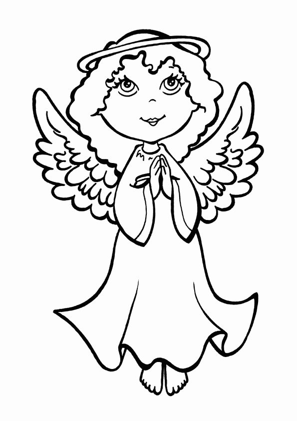 transmissionpress free printable christmas angel colouring pages - Coloring Pages Angels Print