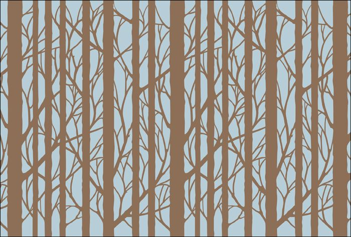 Click To See The Actual Vn301 Wall Bare Trees Stencil