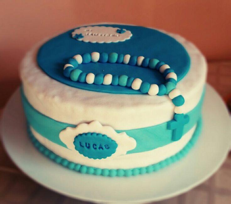 Torta bautizo niño Pastel bautizo niño Christening cake child