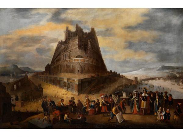 Niederländischer Maler des 17. Jahrhunderts - TURMBAU ZU BABEL - Öl auf Leinwand. [...], Catalogue III - Collections de Peintures Anciennes à Hampel Fine Art Auctions