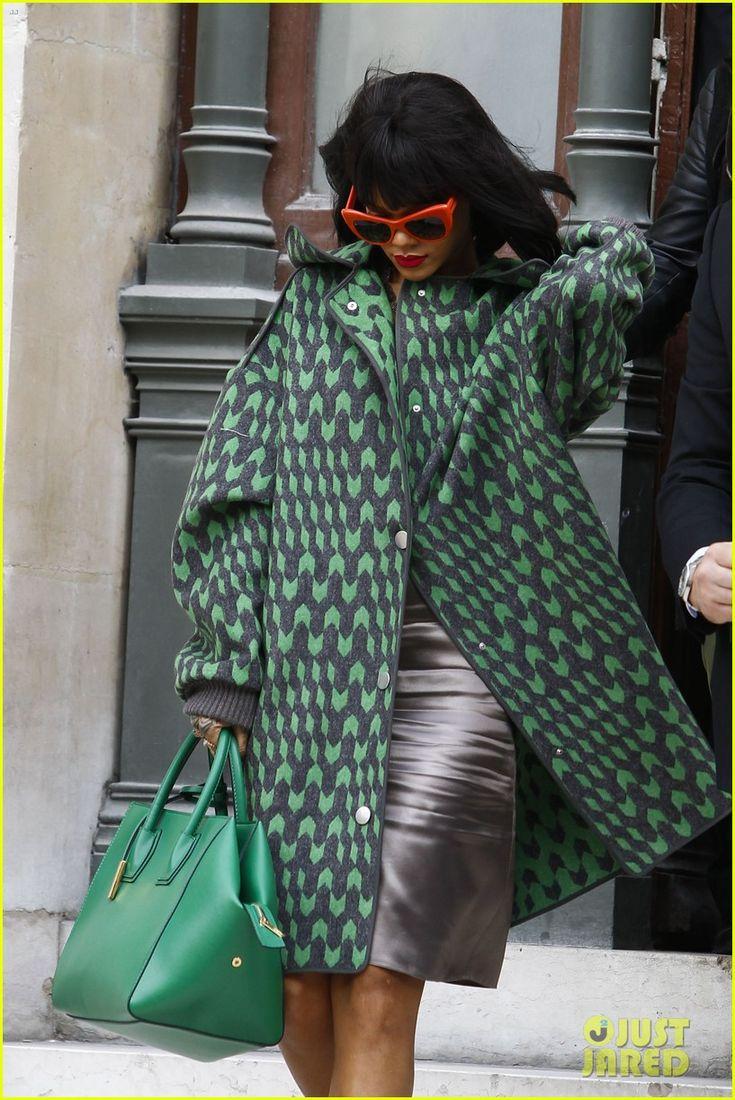 rihanna fashion 2014 | Rihanna Continues Fashion Week Fun in Paris | Rihanna Photos | Just ...