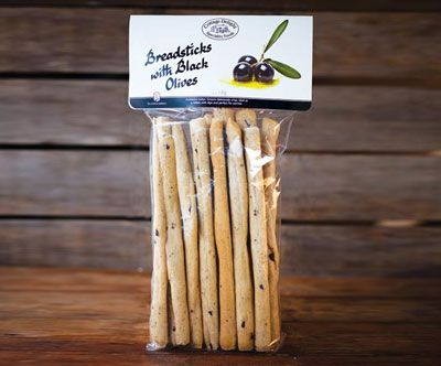 Cottage Delight Breadsticks with black olives