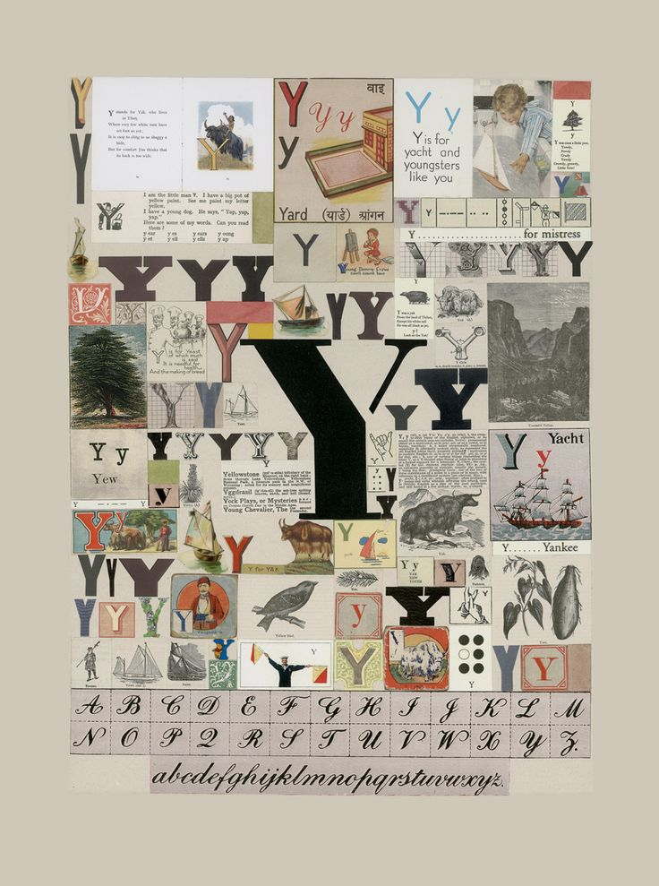 The Letter 'Y'   Peter Blake #typography #letters