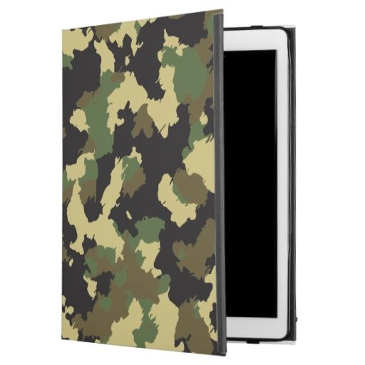 Green/Brown Camo iPad Pro Case
