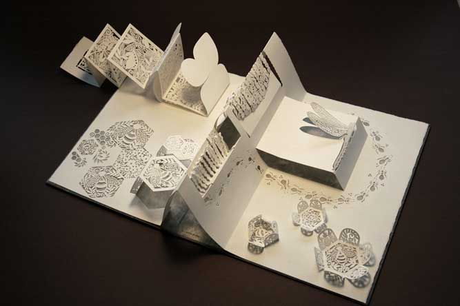 Paper Art Sculpting Book by White Papers Press.