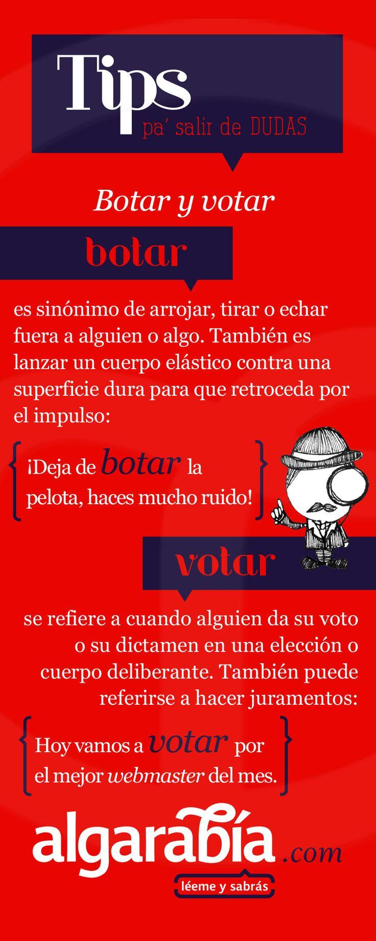 Botar y votar