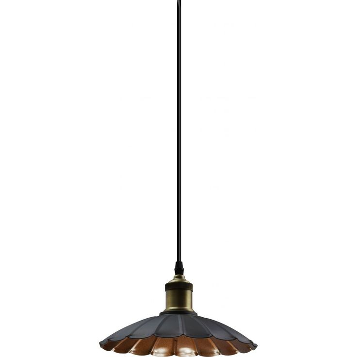 Crafted from clear glass and a brush brown frame, the Gabino pendant is sure to add a sense of elegance and style to any setting.