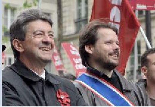 Photo :  François Delapierre (décédé en 2015) ici dans une manifestation avec Jean-Luc Mélenchon (source : France info)