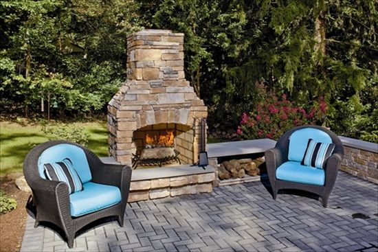 I think an outside fireplace is in order.