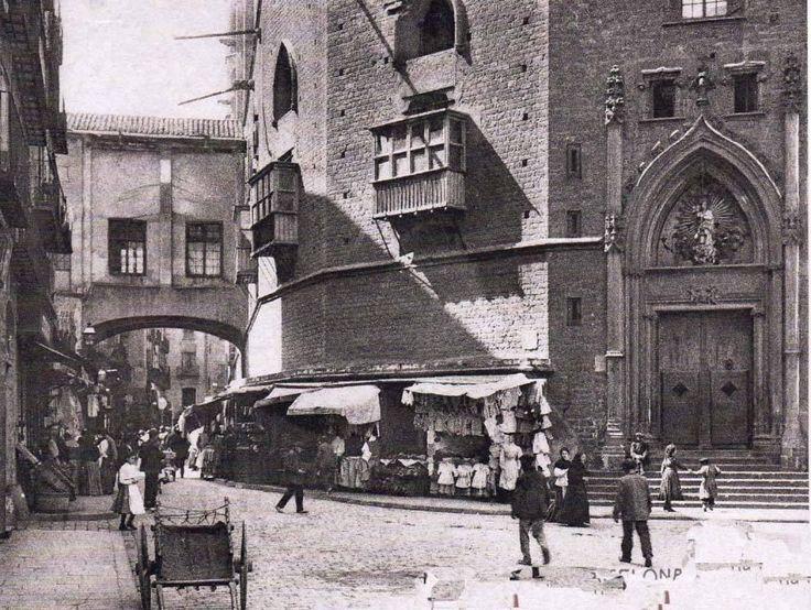 La basílica de Santa maria de Mar, Barcelona 1905 Barcelona.