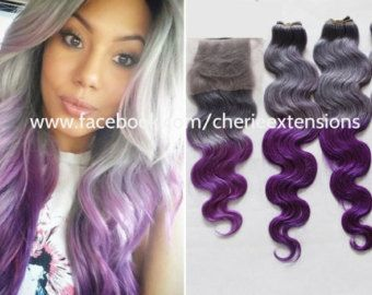 dark silver purple hair - Google Search