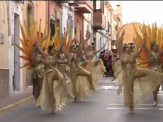 Golden dancers at moors and christians Benitachell