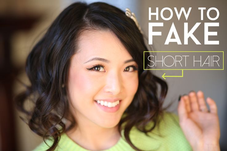 From Head To Toe: TUTORIAL | How To Fake Short Hair (Faux Bob)