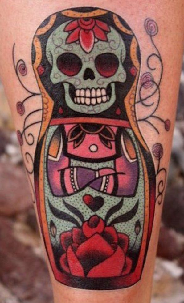 103 best images about skull tattoos on pinterest for Russian style tattoo