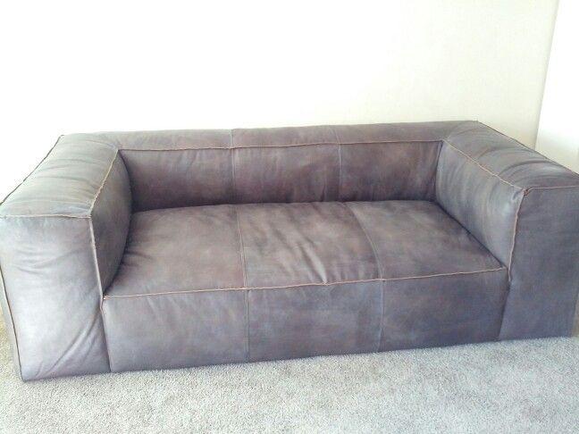 Restoration hardware fulham antiqued ebony sofa sofas for Small sectional sofa restoration hardware