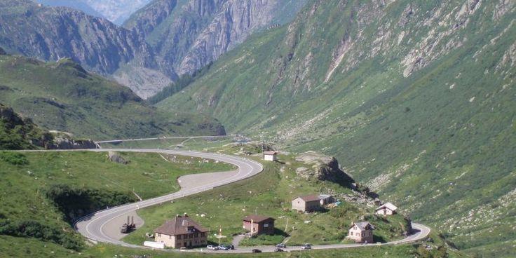 Drive the San Bernardino Pass, Switzerland, for spectacular views. Just mind the hairpin bends!
