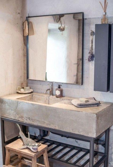17 mejores ideas sobre encimeras de concreto en pinterest - Bano cemento pulido ...