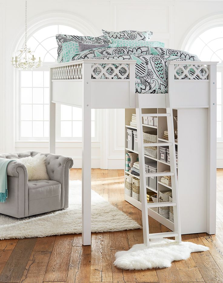 Create Your Own Space For Sleep And Study A Lofted Bed Provides Lots