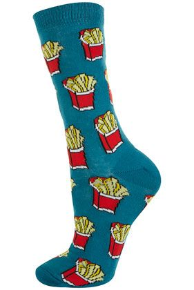 French fry socks, Topshop I NEEEED these!!!!!!!! birthday gift?? ;) remember ..December 30th!