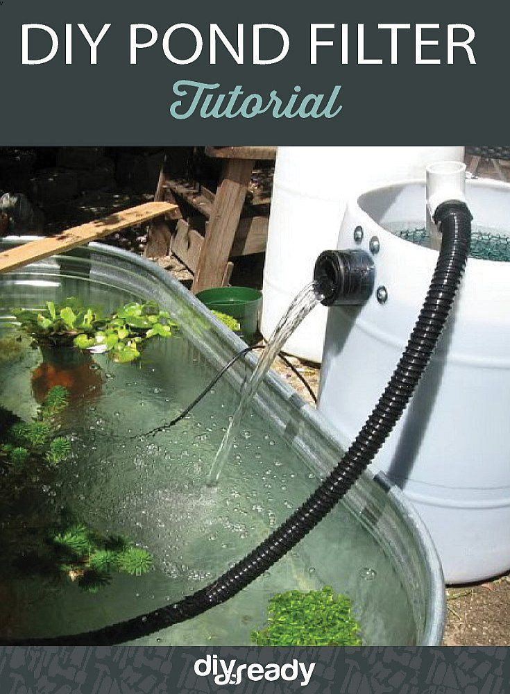 Filter your pond with this DIY Pond Filter by DIR Ready at http://diyready.com/diy-pond-filter-tutorial
