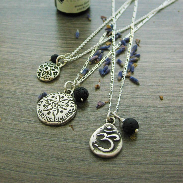 Choose any pure essential oil or a blend of your favorites and apply a single drop or two to create aromatherapy jewellery that allows you to take the benefits of essential oils with you wherever you go. The cords and lava stones act as aromatherapy diffusers so the scent on your jewellery dissipates slowly over time. Some of these pieces use high energy crystals or hand carved amulets. All of this essential oil jewelry is made by hand in Vancouver BC.