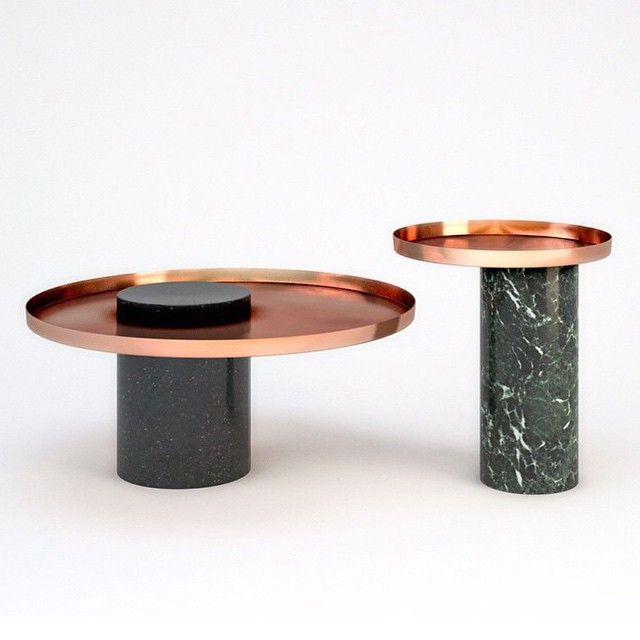 Salute tables by Sebastian Herkner. #sebastianherkner #love #design #designwishlist #tables #marble #copper #instadesign