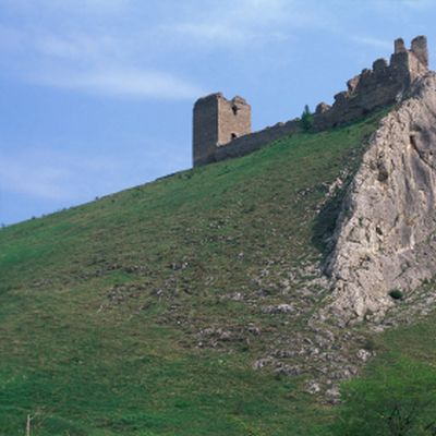 Coltesti Fortress, now in ruins, was a 13th century castle located in the Trascau Mountains of Romania.