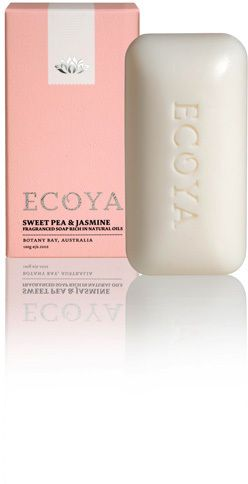 ECOYA Sweet Pea & Jasmine Soap relies on natural oils to moisturise and lightly scent the skin while cleansing. Its floral fragrance blends uplifting notes of wa...