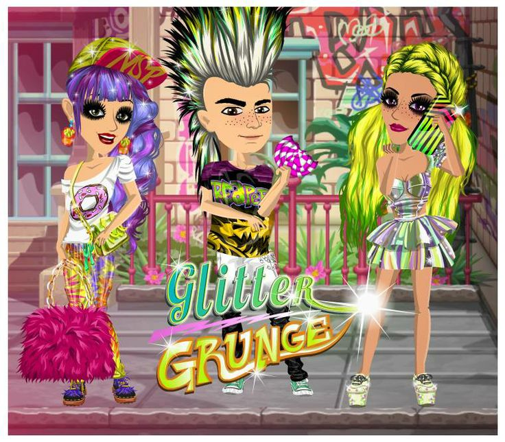 Glitter Grunge theme at #moviestarplanet #MSP