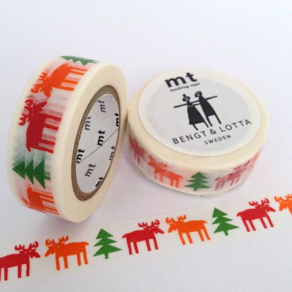 New to Hobbyhoppers on Etsy: MT Tape Happy Moose Artist Series Washi Tape (6.95 AUD)