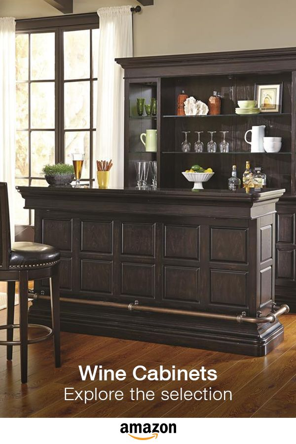Make entertaining easy! Bar and wine cabinet selection.