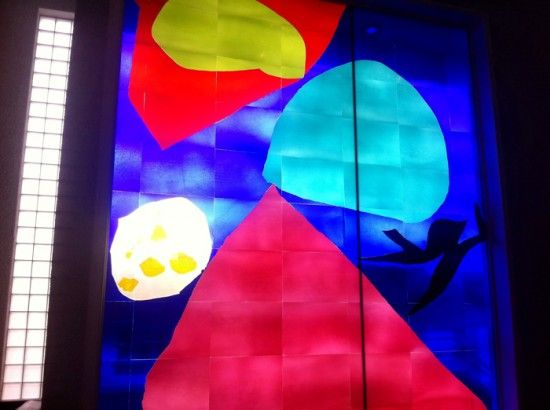 Patrick Heron stained glass window