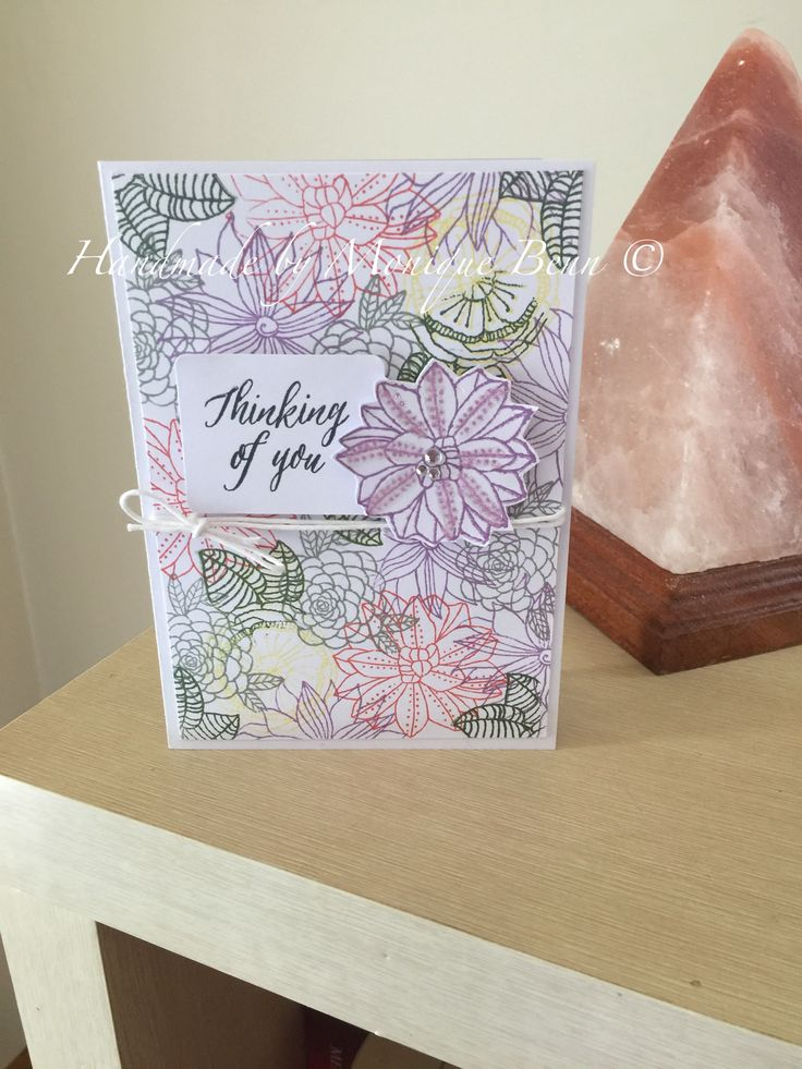 Had fun creating this card using December stamp of the month-Thoughtful Flowers