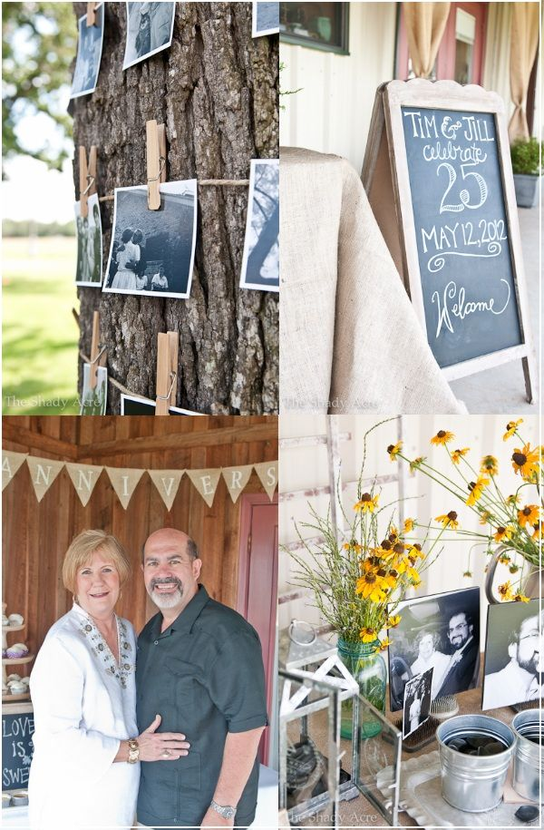 anniversary party ideasParents Anniversaries, Outside Parties, Chalkboards, 25 Years, Anniversaries Ideas, 25Th Anniversaries, Parties Ideas, Anniversaries Parties, Party Ideas