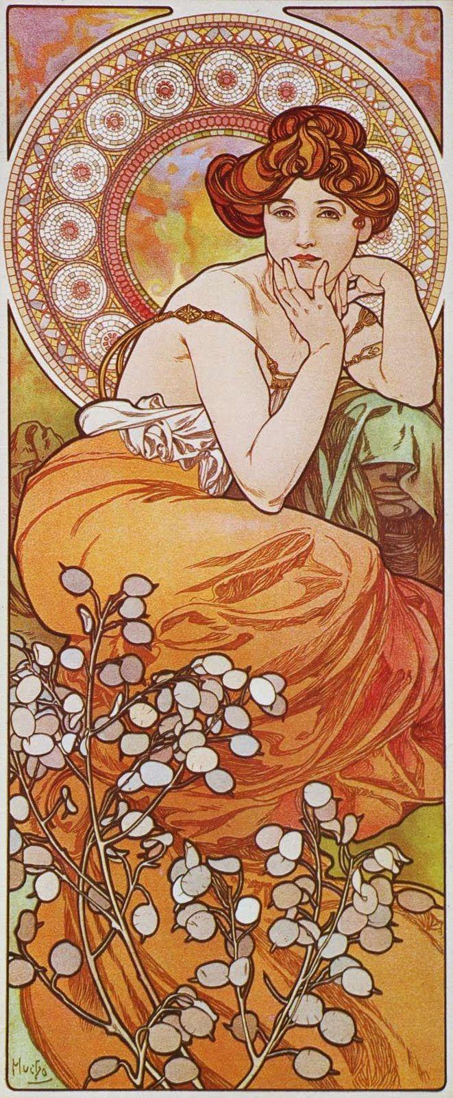 """Alfons Mucha. """"La topaze"""", série """"Les Pierres Précieusesas"""", 1900."""