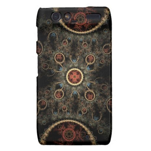 Abstract Floral Pattern Droid RAZR Cases