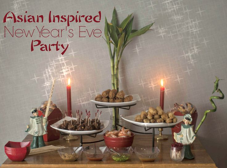 Asian Inspired New Year's Eve party - an easy party plan that will let you have fun with a minimum of cooking #TaiPeiGoodFortune #ad