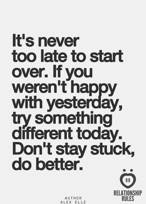 It's never too late for anything............whether to reach out, start over or rekindle!
