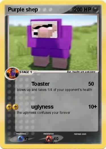 Pokémon Purple shep 23 23 - Toaster - My Pokemon Card