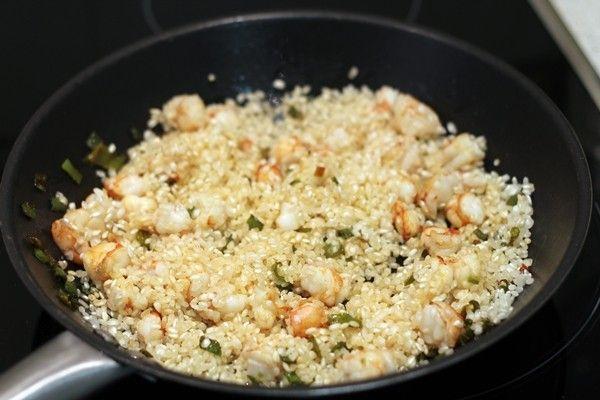 receta arroz con gambas