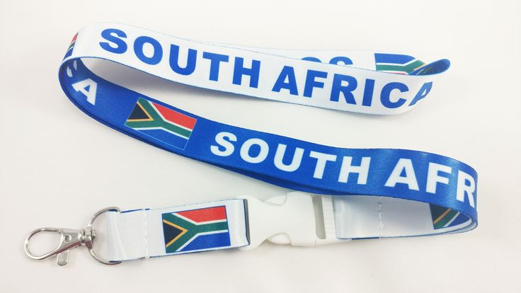 South Africa flag reversible lanyard