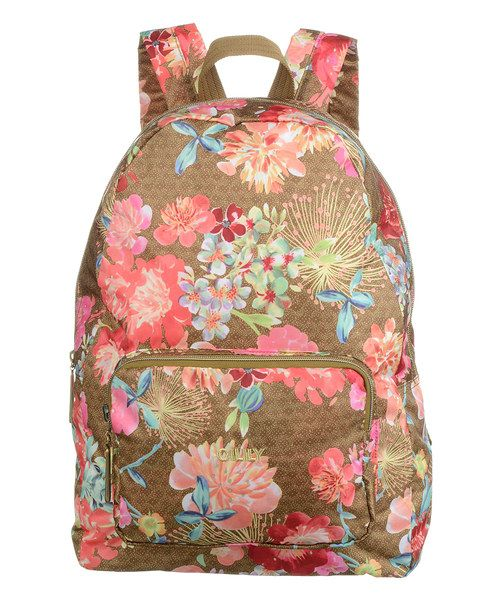 Look at this Gold Floral Fold Backpack on #zulily today!