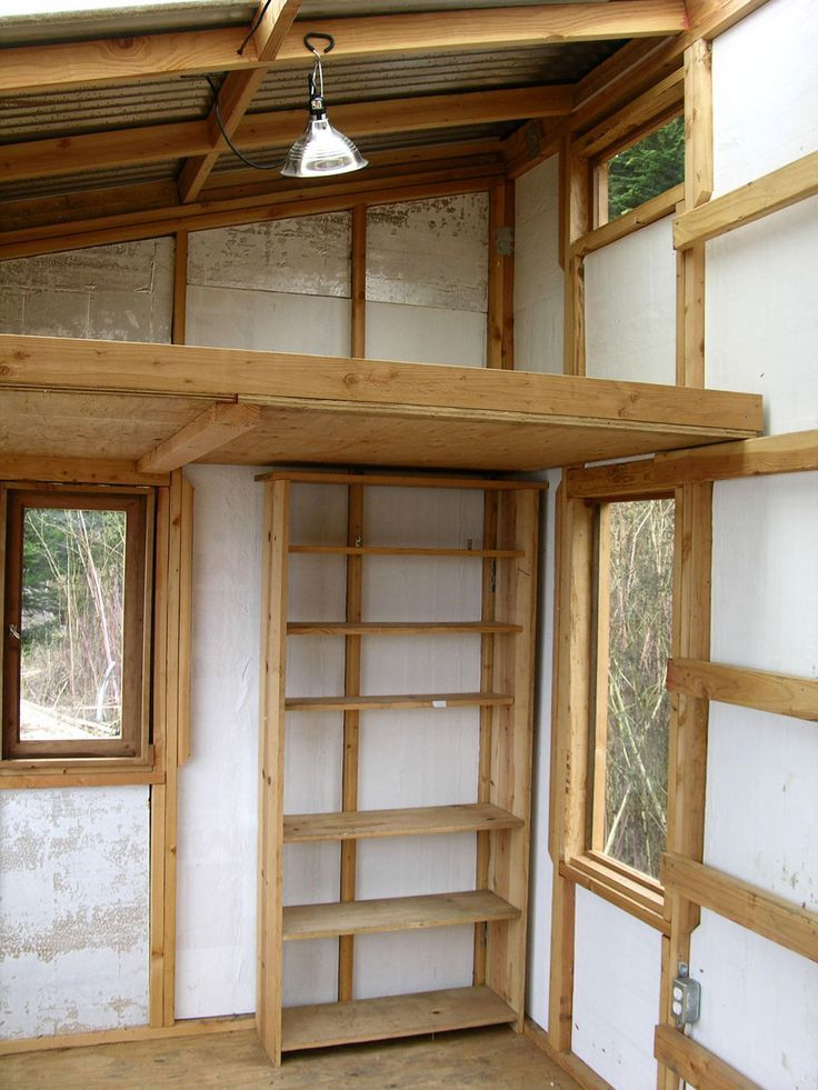 small shed roof cabin with loft - Google Search