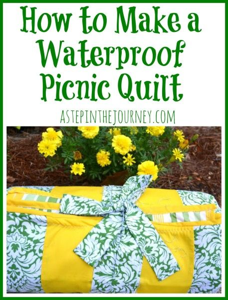 How to make a waterproof picnic quilt (for the nonseamstresses out there!)